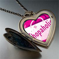 Necklace & Pendants - cartoon theme photo heart flower heart locket pendant shopaholic gifts for women necklace Image.