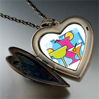 Necklace & Pendants - cartoon theme photo heart flower heart locket pendant cocktail summer gifts for women necklace Image.