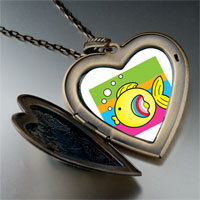 Necklace & Pendants - animal fish photo large heart locket pendant necklace Image.