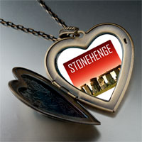 Necklace & Pendants - landmark stonehenge photo large heart locket pendant necklace Image.