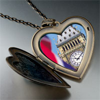 Necklace & Pendants - landmark big ben photo large heart locket pendant necklace Image.