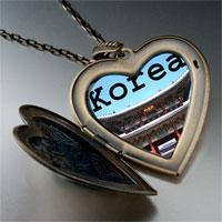 Necklace & Pendants - landmark korea temple photo large heart locket pendant necklace Image.