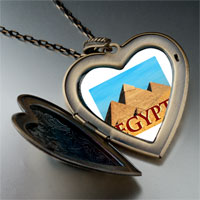 Necklace & Pendants - travel pyramids photo large heart locket pendant necklace Image.