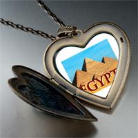 Necklace & Pendants - travel pyramids photo large heart locket pendant necklace Image.