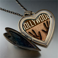 Necklace & Pendants - travel hollywood photo heart flower heart locket pendant gifts for women necklace Image.