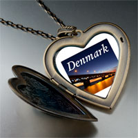 Necklace & Pendants - travel oresund bridge photo large heart locket pendant necklace Image.