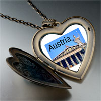 Necklace & Pendants - travel parliament building austria photo large heart locket pendant necklace Image.