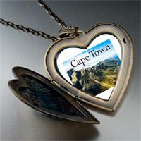 Necklace & Pendants - travel cape town photo large heart locket pendant necklace Image.
