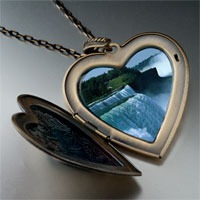 Necklace & Pendants - travel niagara falls photo large heart locket pendant necklace Image.