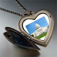Necklace & Pendants - travel washington dc photo large heart locket pendant necklace Image.