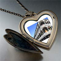 Necklace & Pendants - travel new orleans photo heart flower heart locket pendant gifts for women necklace Image.