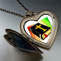 Necklace & Pendants - religious bible photo large heart locket pendant necklace Image.