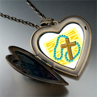 Necklace & Pendants - religion rosary photo large heart locket pendant necklace Image.