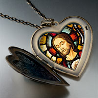 Necklace & Pendants - religion jesus photo large heart locket pendant necklace Image.