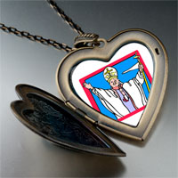 Necklace & Pendants - religion pope photo large heart locket pendant necklace Image.