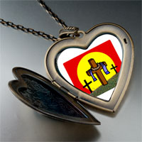 Necklace & Pendants - religion resurrection photo large heart locket pendant necklace Image.