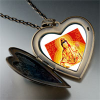 Necklace & Pendants - religion buddha photo large heart locket pendant necklace Image.