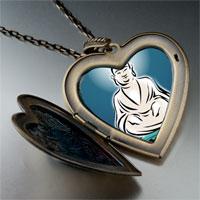 Necklace & Pendants - religion holy buddha lotus photo large heart locket pendant necklace Image.