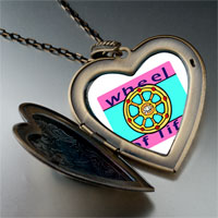 Necklace & Pendants - religion wheel life photo large heart locket pendant necklace Image.