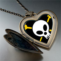 Necklace & Pendants - music hard metal photo large heart locket pendant necklace Image.