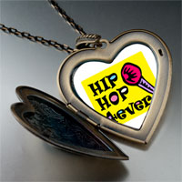 Necklace & Pendants - music hip hop forever photo large heart locket pendant necklace Image.