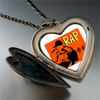 Necklace & Pendants - music rap photo large heart locket pendant necklace Image.