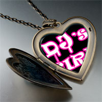 Necklace & Pendants - music dj' s girl photo large heart locket pendant necklace Image.
