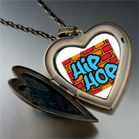 Necklace & Pendants - music hip hop photo large heart locket pendant necklace Image.