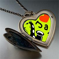 Necklace & Pendants - music love jazz photo large heart locket pendant necklace Image.