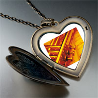 Necklace & Pendants - music jazz playing photo large heart locket pendant necklace Image.