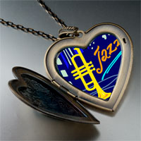 Necklace & Pendants - music jazz trumpet photo large heart locket pendant necklace Image.