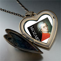 Necklace & Pendants - music mozart photo large heart locket pendant necklace Image.