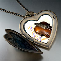 Necklace & Pendants - music violoncello photo large heart locket pendant necklace Image.