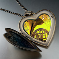 Necklace & Pendants - music romantic saxophone photo large heart locket pendant necklace Image.