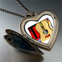 Necklace & Pendants - music classic violoncello photo large heart locket pendant necklace Image.
