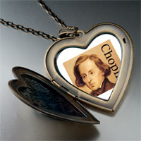 Necklace & Pendants - music chopin photo large heart locket pendant necklace Image.