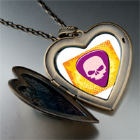 Necklace & Pendants - music theme guitar plectrum photo large heart locket pendant necklace Image.