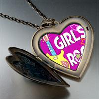 Necklace & Pendants - music theme girls rock photo large heart locket pendant necklace Image.