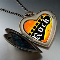 Necklace & Pendants - music theme rock photo large heart locket pendant necklace Image.