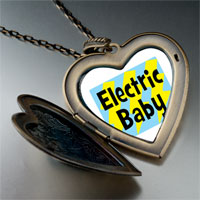 Necklace & Pendants - music theme electric baby photo large heart locket pendant necklace Image.