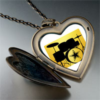 Necklace & Pendants - music theme band instrument photo large heart locket pendant necklace Image.