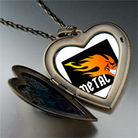 Necklace & Pendants - music theme metal fire photo large heart locket pendant necklace Image.