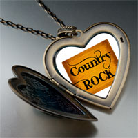 Necklace & Pendants - music theme country rock letter photo large heart locket pendant necklace Image.
