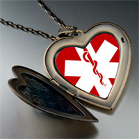 Necklace & Pendants - sign medical alert photo large heart locket pendant necklace Image.
