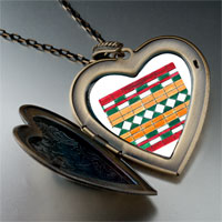 Necklace & Pendants - artwork exotic tile photo large heart locket pendant necklace Image.