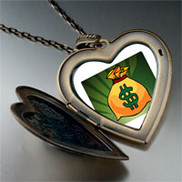Necklace & Pendants - hobbies money bag photo large heart locket pendant necklace Image.