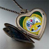 Necklace & Pendants - phrase army seal photo large heart locket pendant necklace Image.