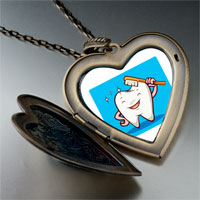 Necklace & Pendants - tooth brush photo italian large heart locket pendant necklace Image.