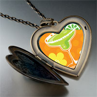Necklace & Pendants - drink flowers photo italian large heart locket pendant necklace Image.
