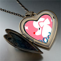 Necklace & Pendants - poodle photo italian large heart locket pendant necklace Image.